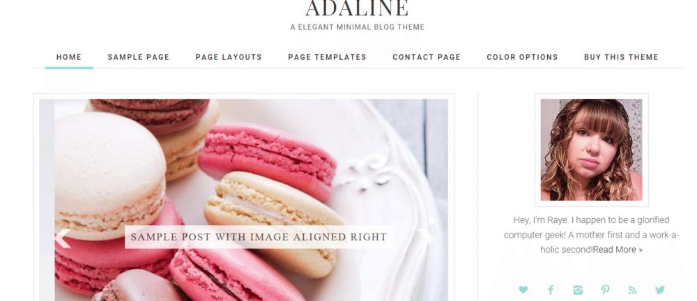 Adaline – 3rd Party Genesis Framework Theme