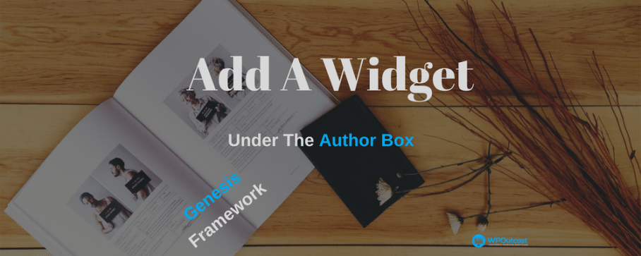 How To Add A Widget Under The Genesis Author Box