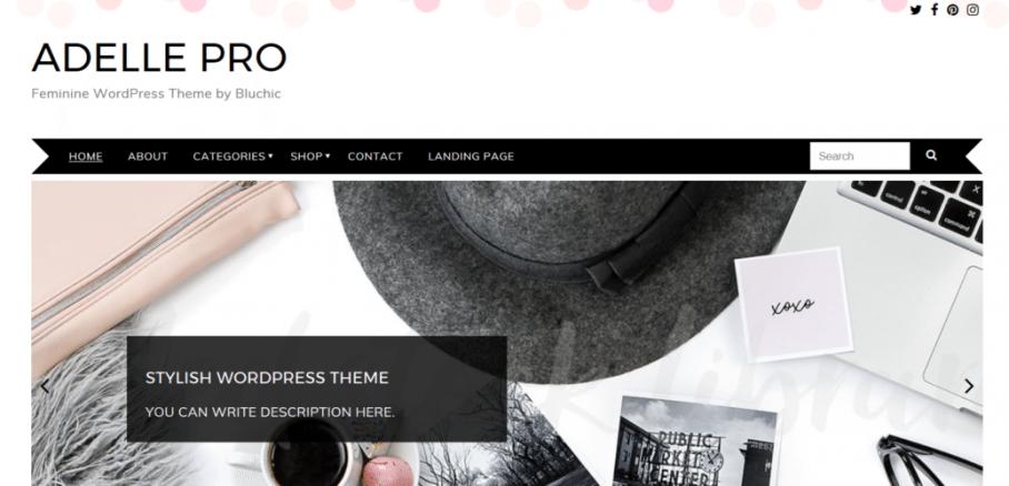 Adelle Pro – Premium Feminine WordPress Theme