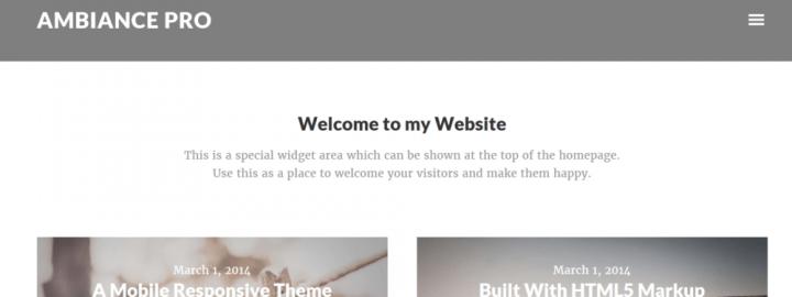 Ambiance Pro – StudioPress Sites Theme
