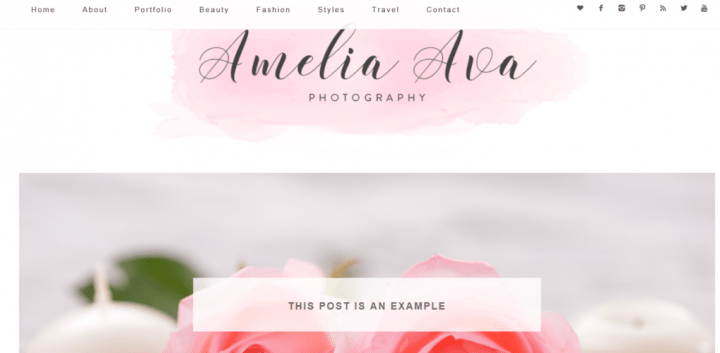 Amelia Ava – 3rd Party Genesis Framework Theme
