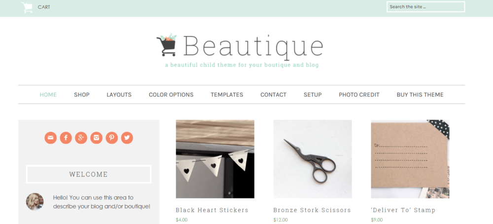 Beautique – 3rd Party Genesis Framework Theme