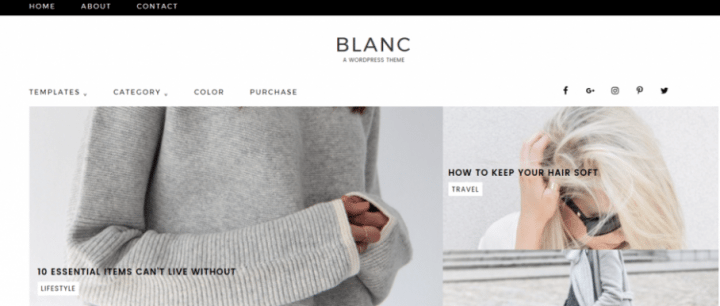 Blanc – 3rd Party Genesis Framework Theme