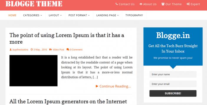 Blogge Theme