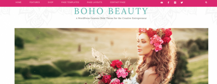 Boho Beauty – 3rd Party Genesis Framework Theme