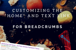 """How To Change The """"Home"""" Text & Destination Link On StudioPress Themes"""
