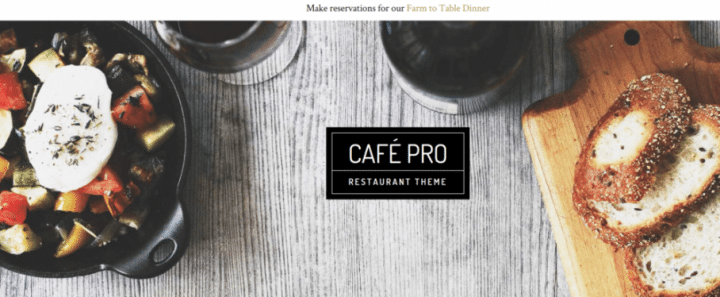 Café Pro –  StudioPress Sites Theme