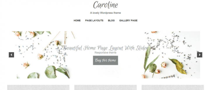 Caroline – 3rd Party Genesis Framework Theme