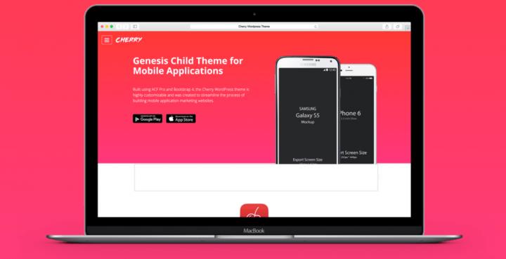 Cherry Theme –  3rd Party Genesis Framework Theme