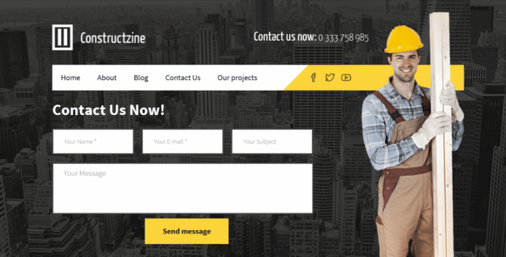 Constructzine Pro –  A Premium Theme For Building Companies