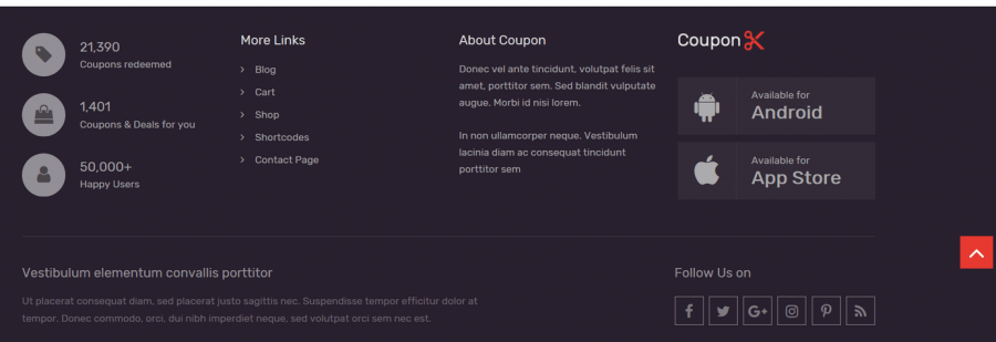 Coupon Footer Widget