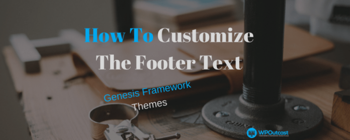 Customize The Footer Texts