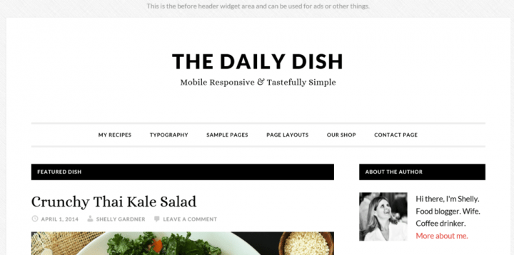 Daily Dish Pro – StudioPress Sites Theme