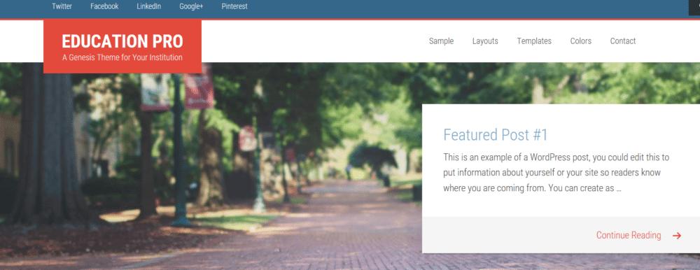 Education Pro – StudioPress Sites Theme