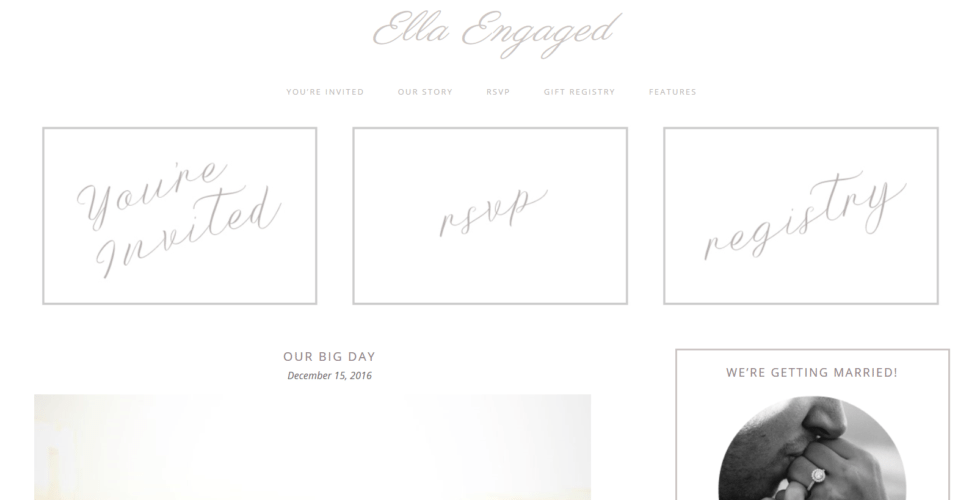 Ella Engaged – 3rd Party Genesis Framework Theme