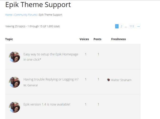 Epik Theme Support