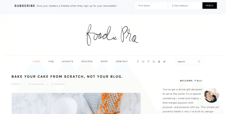 Foodie Pro –  3rd Party Genesis Framework Theme