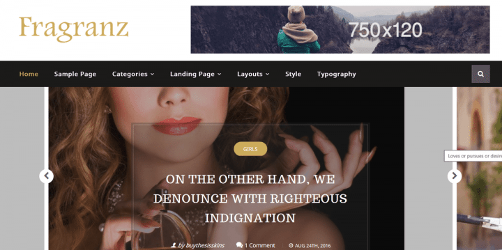 Fragranz – 3rd Party Genesis Framework Theme