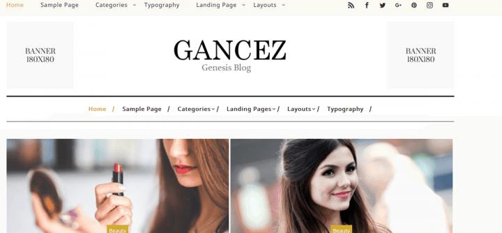 Gancez – 3rd Party Genesis Framework Theme
