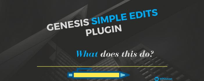 Genesis Simple edits plugins