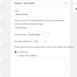 Genesis User Set Up