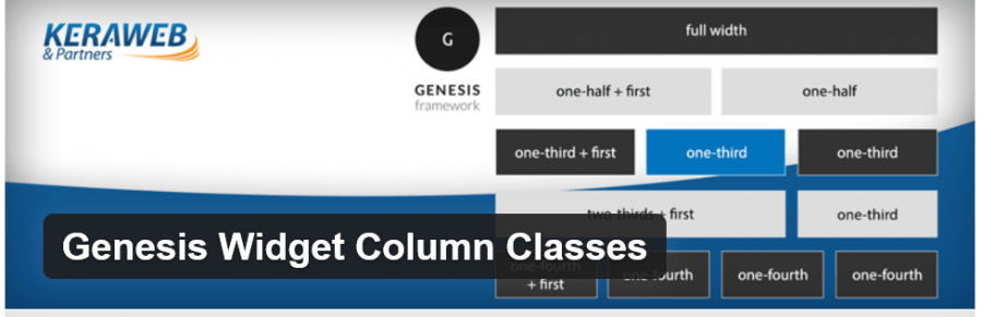 Genesis Widget Column Classes