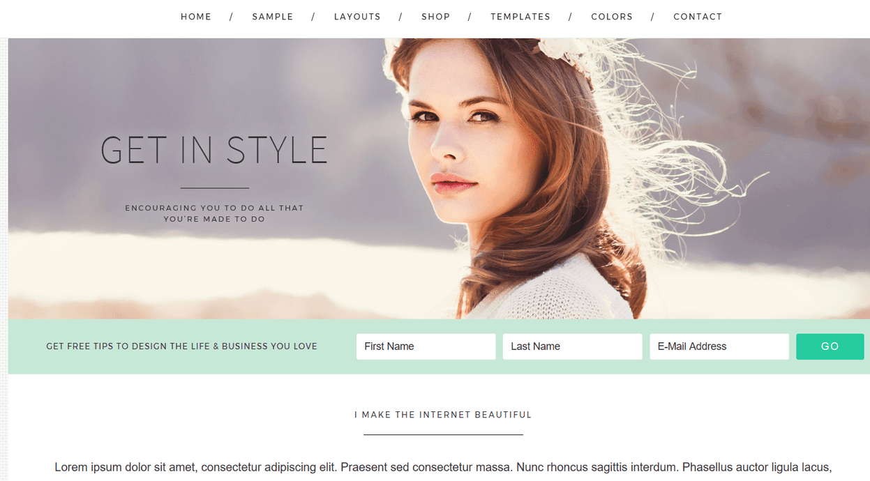 Get In Style – 3rd Party Genesis Framework Theme