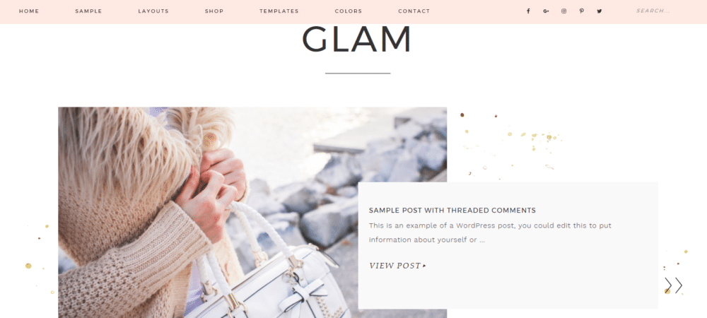 Glam – 3rd Party Genesis Framework Theme