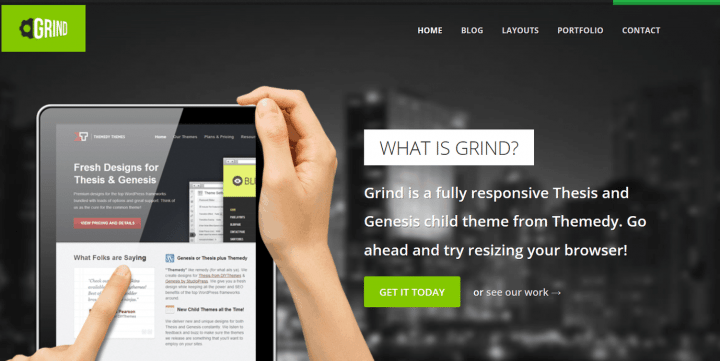 Grind – 3rd Party Genesis Framework Theme