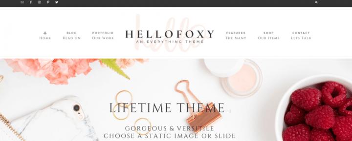 Hello Foxy – 3rd Party Genesis Framework Theme