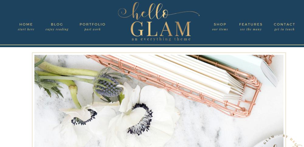 Hello Glam – 3rd Party Genesis Framework Theme