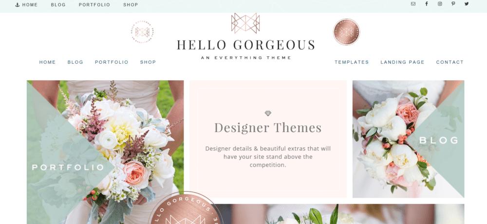 Hello Gorgeous – 3rd Party Genesis Framework Theme