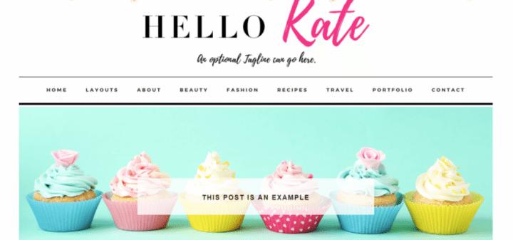 Hello Kate – 3rd Party Genesis Framework Theme