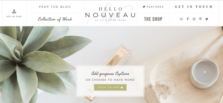 Hello Nouveau – 3rd Party Genesis Framework Theme