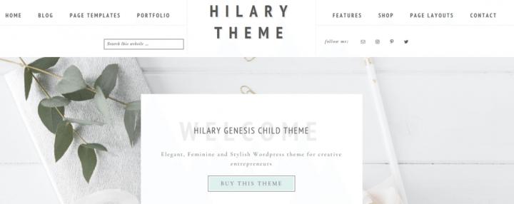 Hilary – 3rd Party Genesis Framework Theme