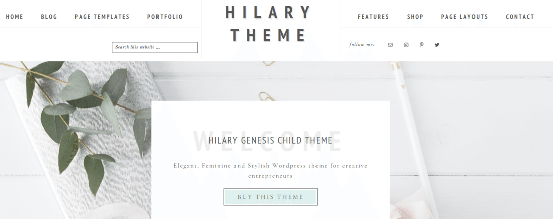 Hilary – 3rd Party Genesis Framework Theme