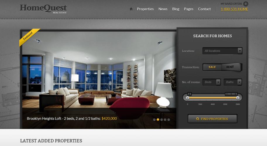 Home Quest – A Premium Real Estate Theme