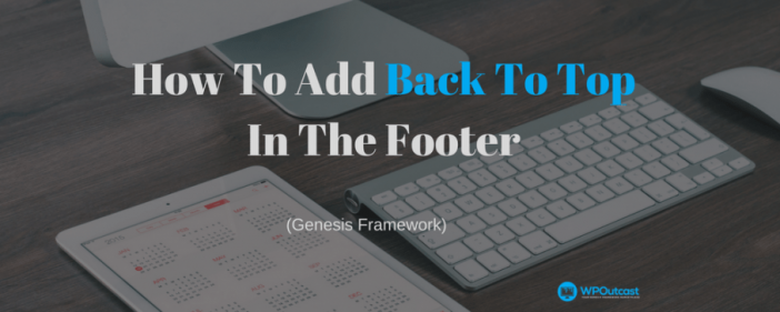 How To Add Back To Top In The Footers