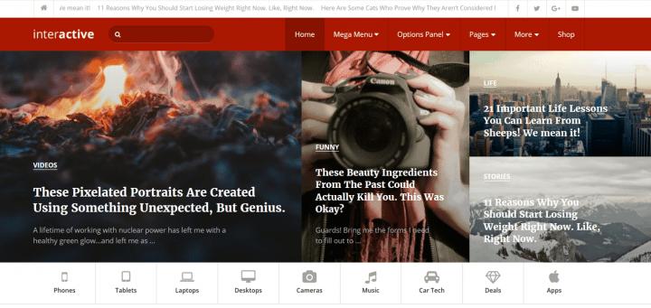 Interactive Theme – Multi-Purpose WordPress Theme With 6 Choices