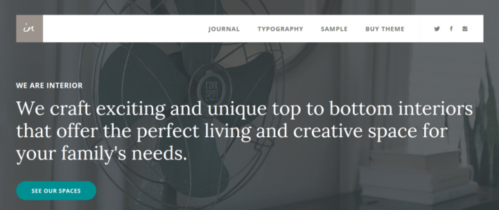 Interior Pro – StudioPress Sites Theme