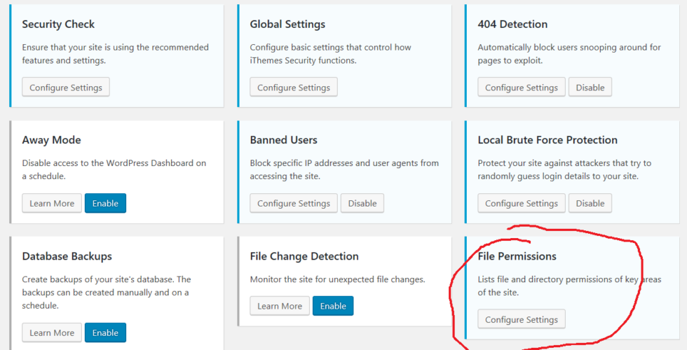 Ithemes security permissions
