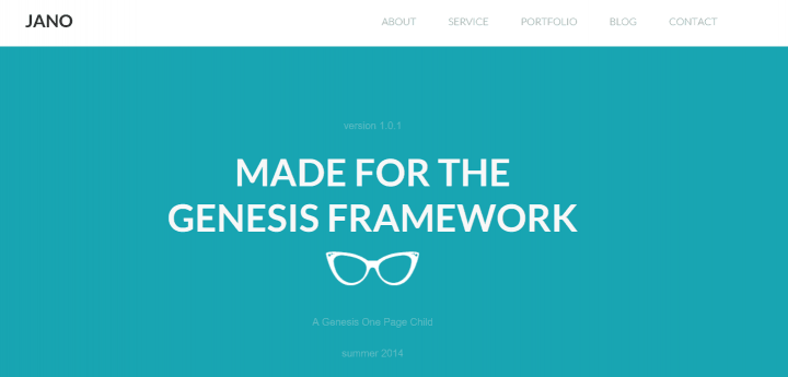 Jano – 3rd Party Genesis Framework Theme