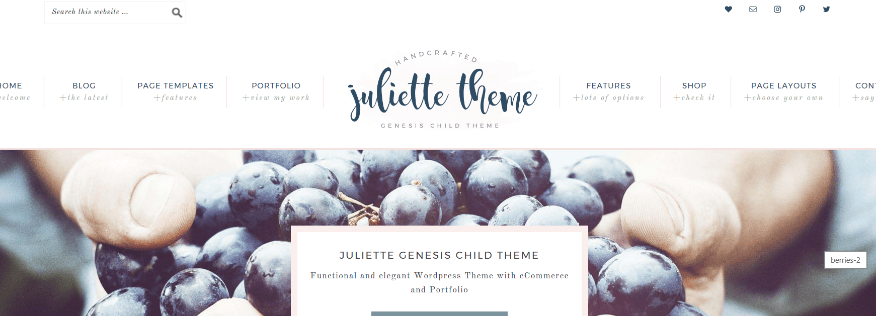 Juliette – 3rd Party Genesis Framework Theme