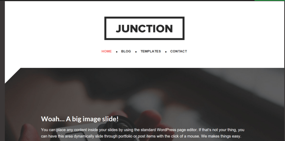Junction – 3rd Party Genesis Framework Theme