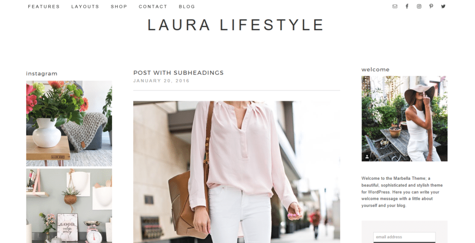 Laura Lifestyle – 3rd Party Genesis Framework Theme