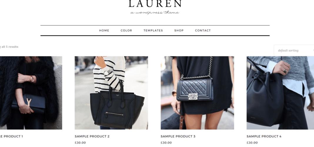 Lauren Shop Page