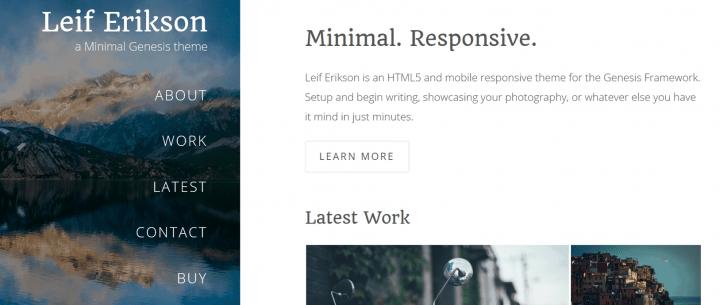 Leif Erikson – 3rd Party Genesis Framework Theme
