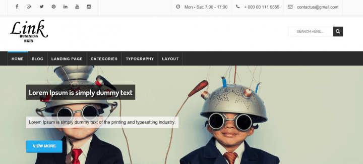 Link Business – 3rd Party Genesis Framework Theme