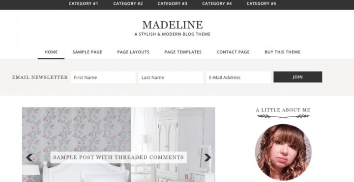 Madeline – 3rd Party Genesis Framework Theme