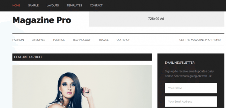 Magazine Pro – StudioPress Sites Theme